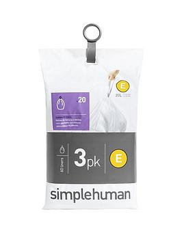 simplehuman-3-packs-of-20-bin-liners-60-liners-total-ndash-code-e