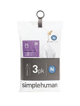 simplehuman-3-packs-of-20-bin-liners-60-liners-total-ndash-code-n
