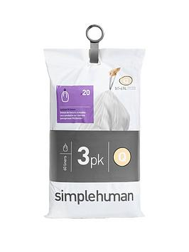 simplehuman-3-packs-of-20-bin-liners-60-liners-total-ndash-code-q