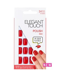 elegant-touch-polished-nails-red