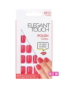 elegant-touch-polished-nails-coral