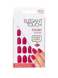 elegant-touch-polished-nails-fuchsia