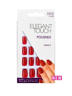 elegant-touch-polished-nails-nancy-red