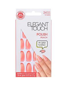 elegant-touch-polished-nails-peach