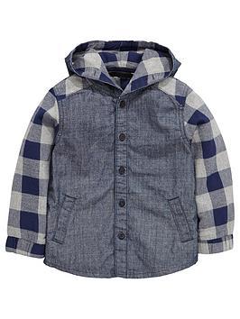 mini-v-by-very-boys-denim-and-check-hooded-shirt