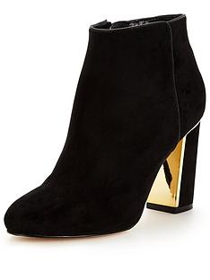 lipsy-lipsy-gold-heel-ankle-boot