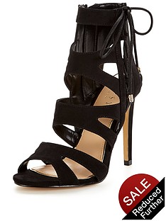 lipsy-caged-lace-up-sandal