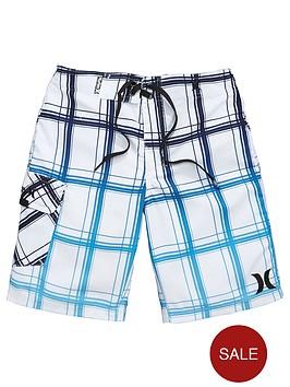 hurley-older-boys-check-swim-shorts