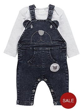 ladybird-baby-boys-acid-wash-bear-dungarees-and-bodysuit-set