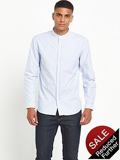 suit-oxford-stripe-mandarin-shirt