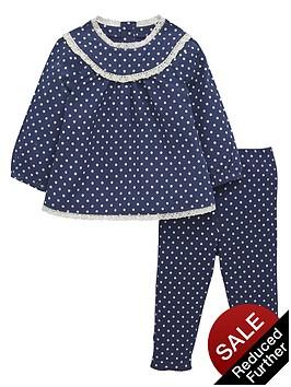 ladybird-baby-girls-woven-spotty-top-and-leggings-set