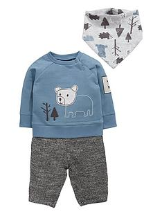 ladybird-baby-boys-mock-sweat-romper-and-bib-set-2-piece