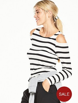 v-by-very-cold-shoulder-long-sleeve-striped-top