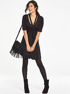 v-by-very-tie-neck-tea-dress-black
