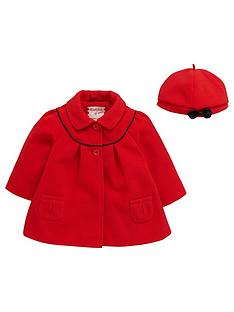 ladybird-baby-girls-melton-swing-coat-and-beret-set