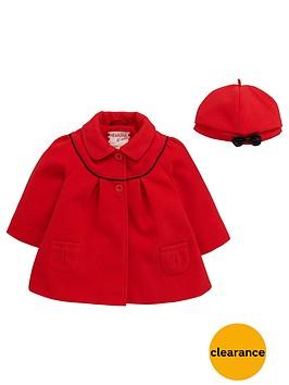 ladybird-baby-girls-melton-swing-coat-and-beret-set