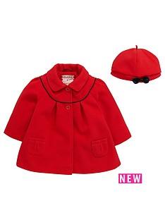 ladybird-baby-girls-melton-swing-coat-and-beret