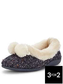dunlop-pom-pom-cosy-full-slipper-navy