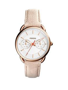 fossil-jacqueline-white-dial-rose-tone-case-papaya-leather-strap-ladies-watch