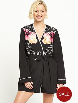 river-island-floral-fleece-lined-robenbsp