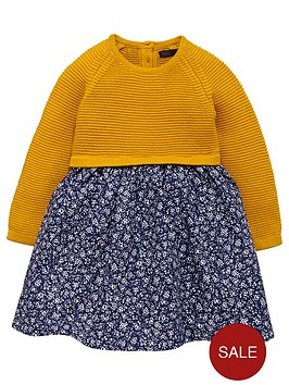 mini-v-by-very-girls-mustard-knit-and-woven-mix-dress