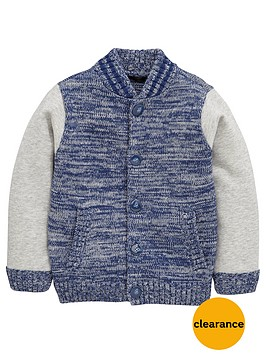 mini-v-by-very-boys-cable-baseball-brushed-sleeve-cardigan