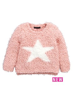 mini-v-by-very-girls-fluffy-star-popcorn-knit-jumper