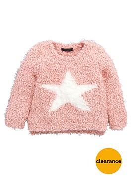mini-v-by-very-girls-fluffy-star-popcorn-knit-jumper