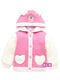 ladybird-baby-girls-teddy-bear-fleeced-mix-hooded-cardigan