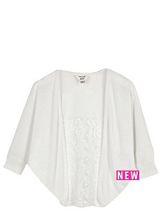 river-island-mini-mini-girls-lace-panel-cocoon-cardigan