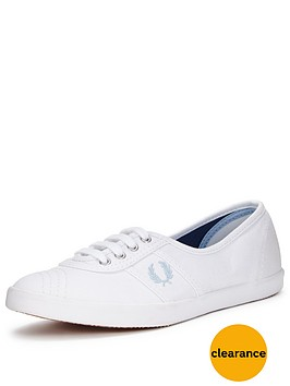 fred-perry-fred-perry-aubrey-twill-white-canvas-pump