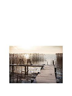 arthouse-sunset-jetty-printed-canvas