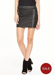 v-by-very-coated-studded-mini-skirt