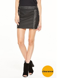 v-by-very-coated-studded-mini-skirt