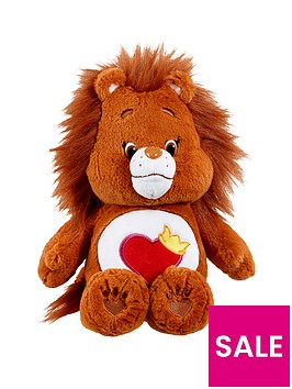 care-bears-medium-plush-with-dvd-brave-heart-lion