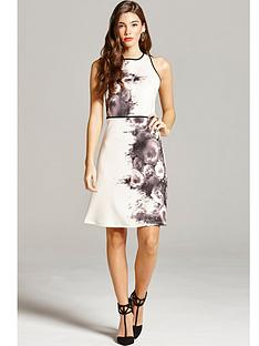little-mistress-rose-print-shift-dressnbsp