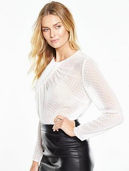 v-by-very-dobby-twist-neck-blouse