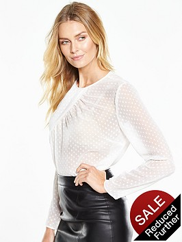 v-by-very-dobby-twist-neck-blouse