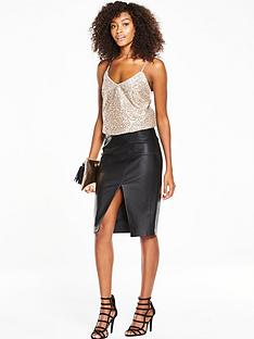 v-by-very-sequin-cross-back-cami