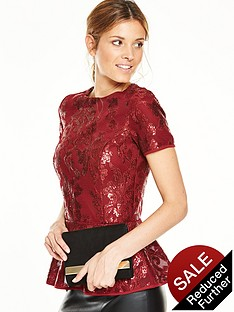 v-by-very-sequin-lace-peplumnbsptopnbsp