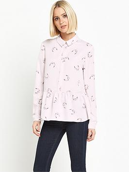 miss-selfridge-long-sleeve-peplum-blouse
