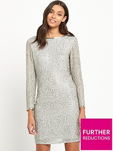 miss-selfridge-bugle-bead-cowl-back-dress-silver