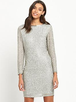 miss-selfridge-bugle-bead-cowl-back-dress-silver