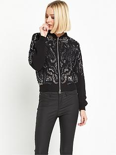 miss-selfridge-embellished-bomber-jacket-black