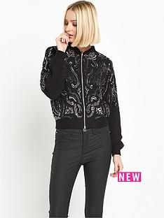 miss-selfridge-embellished-bomber-jacket