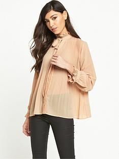 miss-selfridge-pleated-blouse