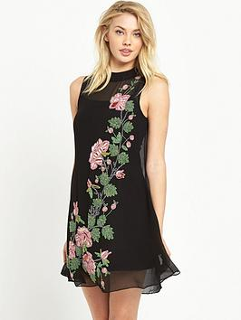 miss-selfridge-miss-selfridge-rose-embellished-trapeze-dress