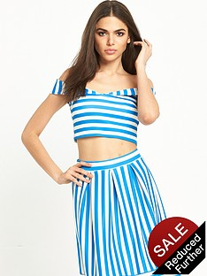miss-selfridge-petite-stripe-scuba-bardot-top
