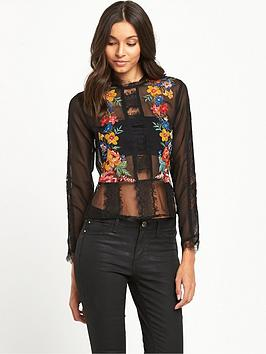 miss-selfridge-miss-selfridge-black-lace-insert-floral-top