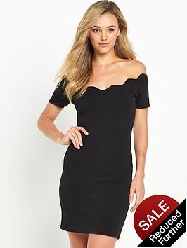 miss-selfridge-scallop-bodycon-dress